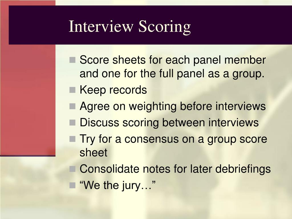 Interview Scoring