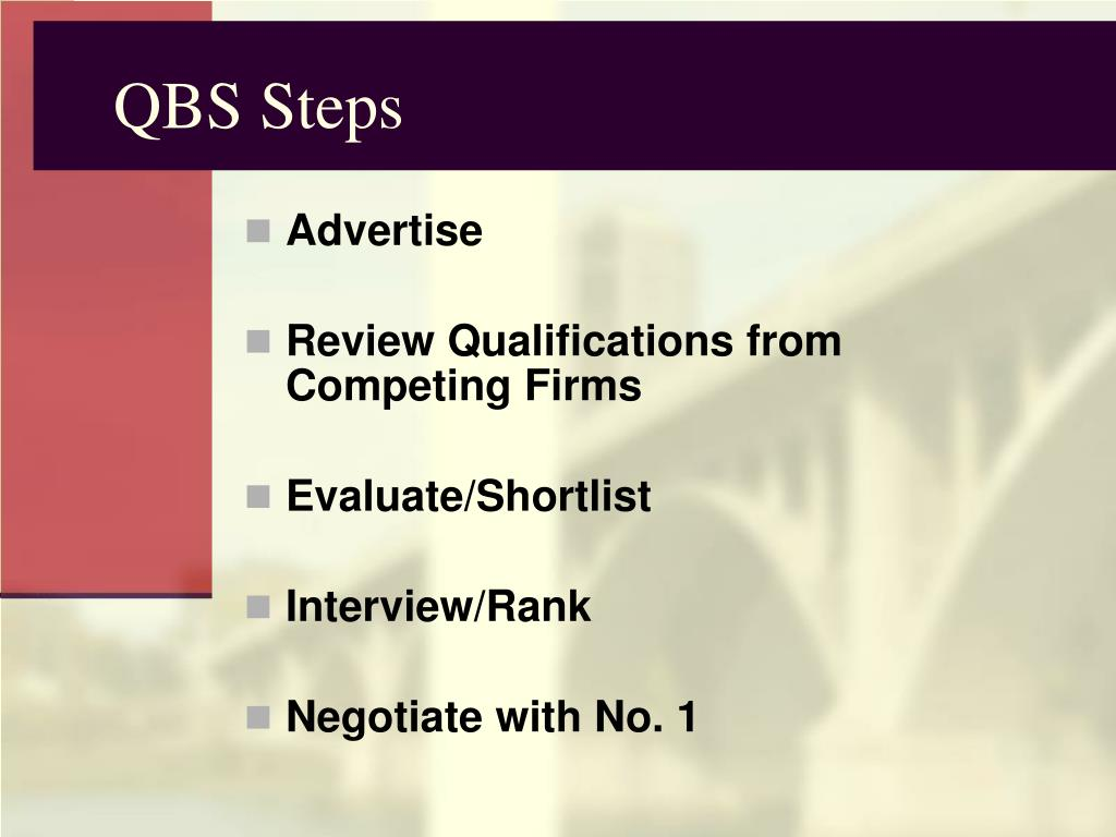 QBS Steps