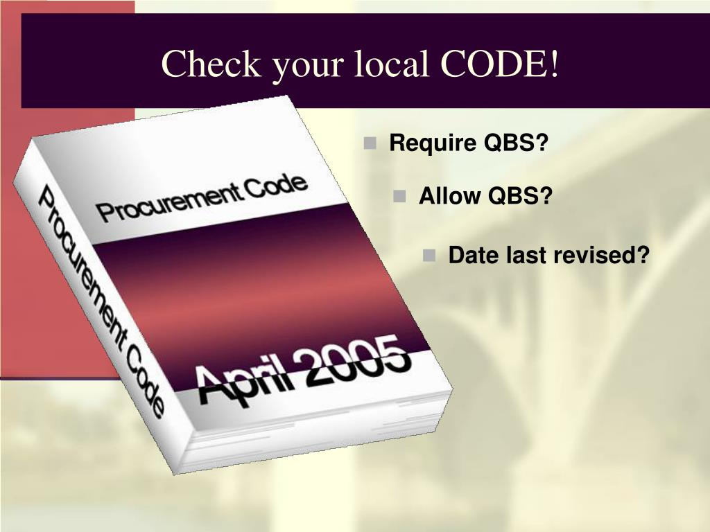 Check your local CODE!