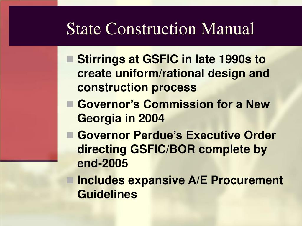State Construction Manual