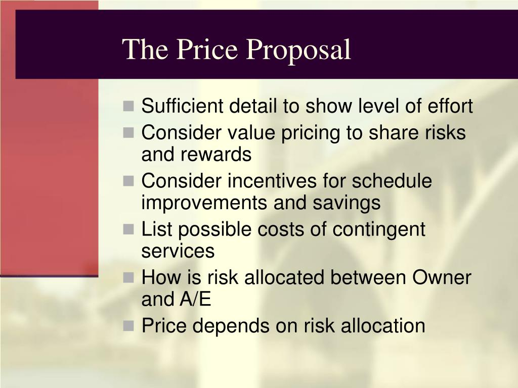 The Price Proposal
