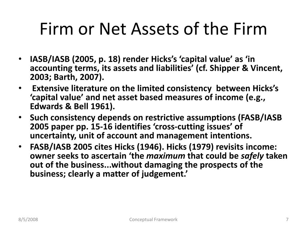 Firm or Net Assets of the Firm