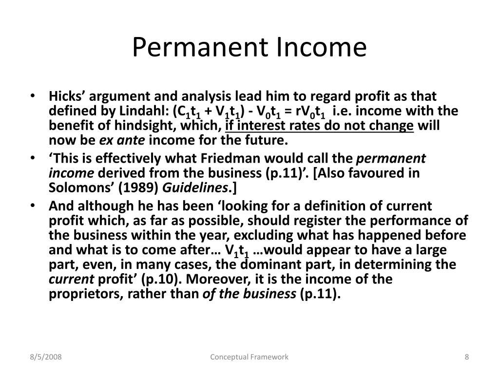 Permanent Income