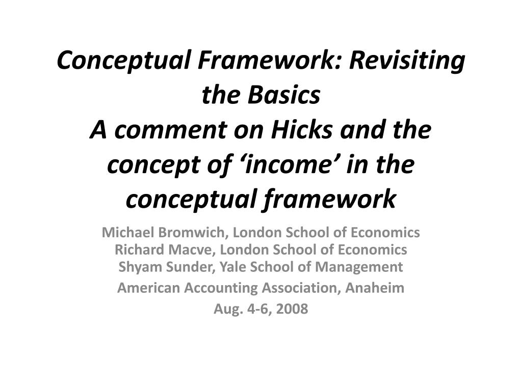 Conceptual Framework: Revisiting the Basics