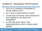 evidence workplace performance5
