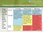 emerging behavioral healthcare system models20