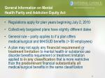 general information on mental health parity and addiction equity act