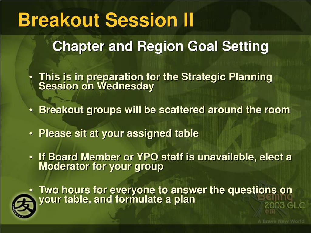 Breakout Session II