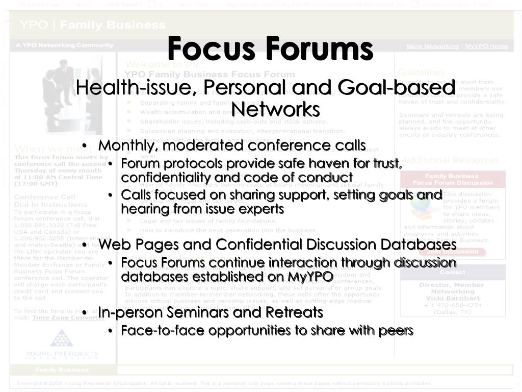 Focus Forums