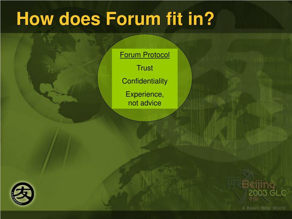 Forum Protocol