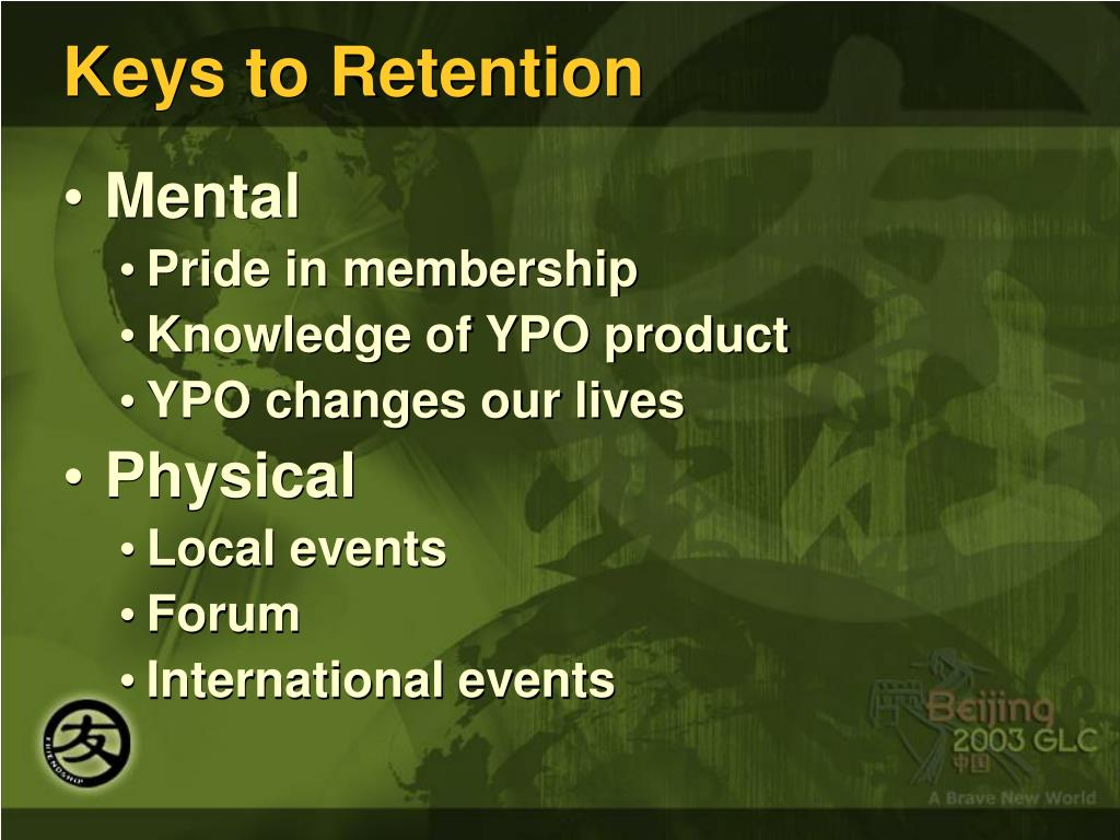 Keys to Retention