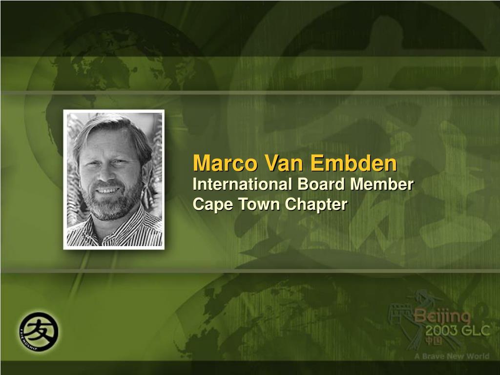 Marco Van Embden