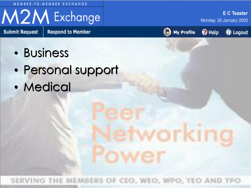 Member to Member Exchange