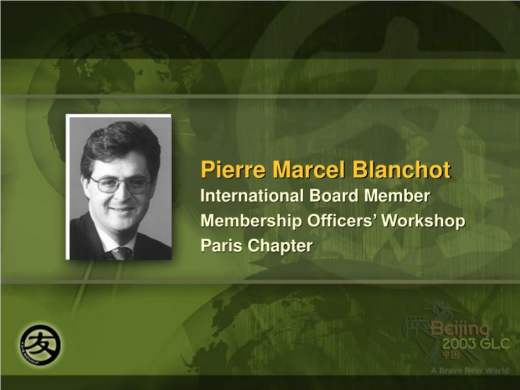 Pierre Marcel Blanchot