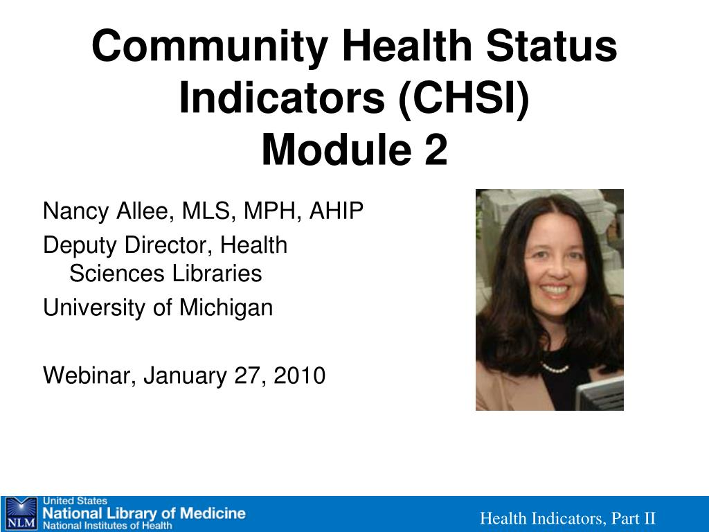 community health status indicators chsi module 2