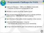 programmatic challenges for nasa