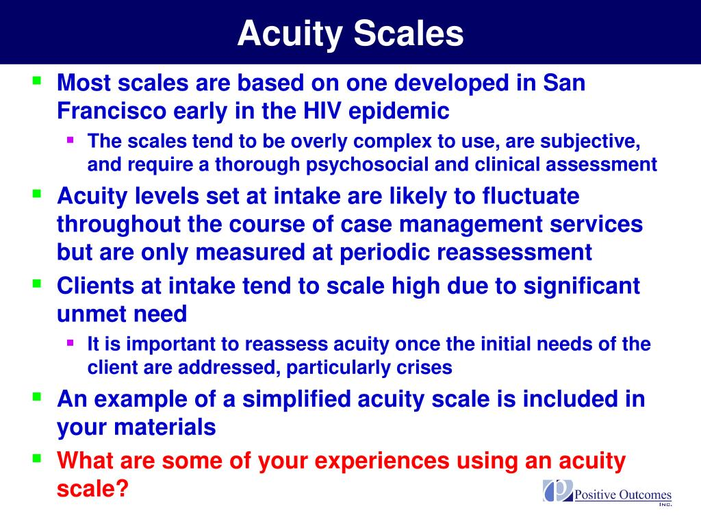Acuity Scales