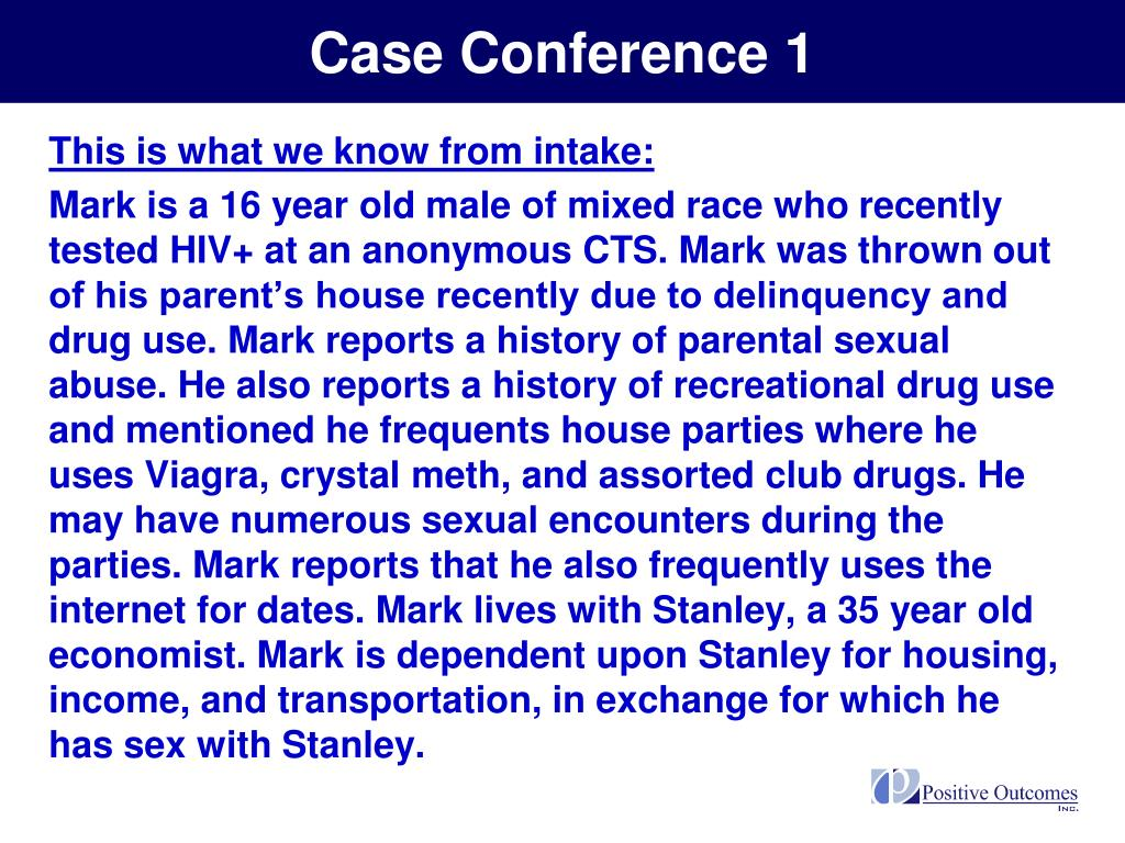 Case Conference 1