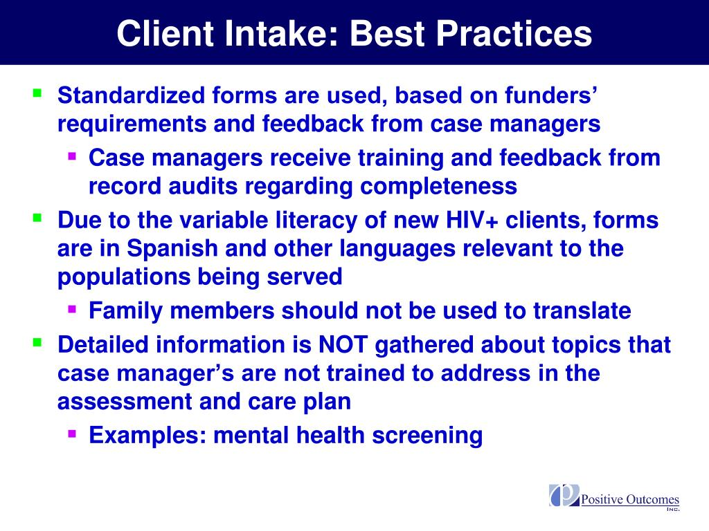 Client Intake: Best Practices