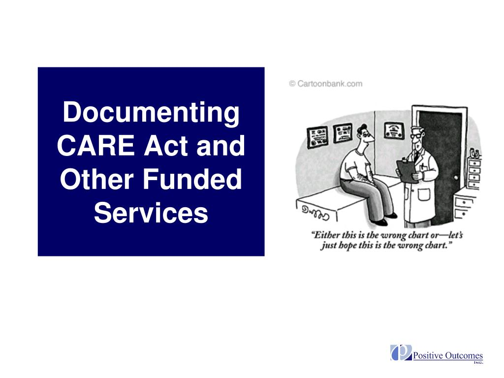 Documenting CARE Act and Other Funded Services