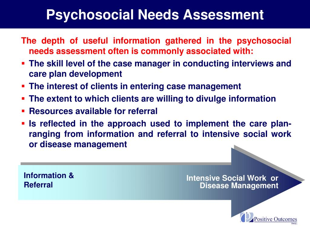 Psychosocial Needs Assessment