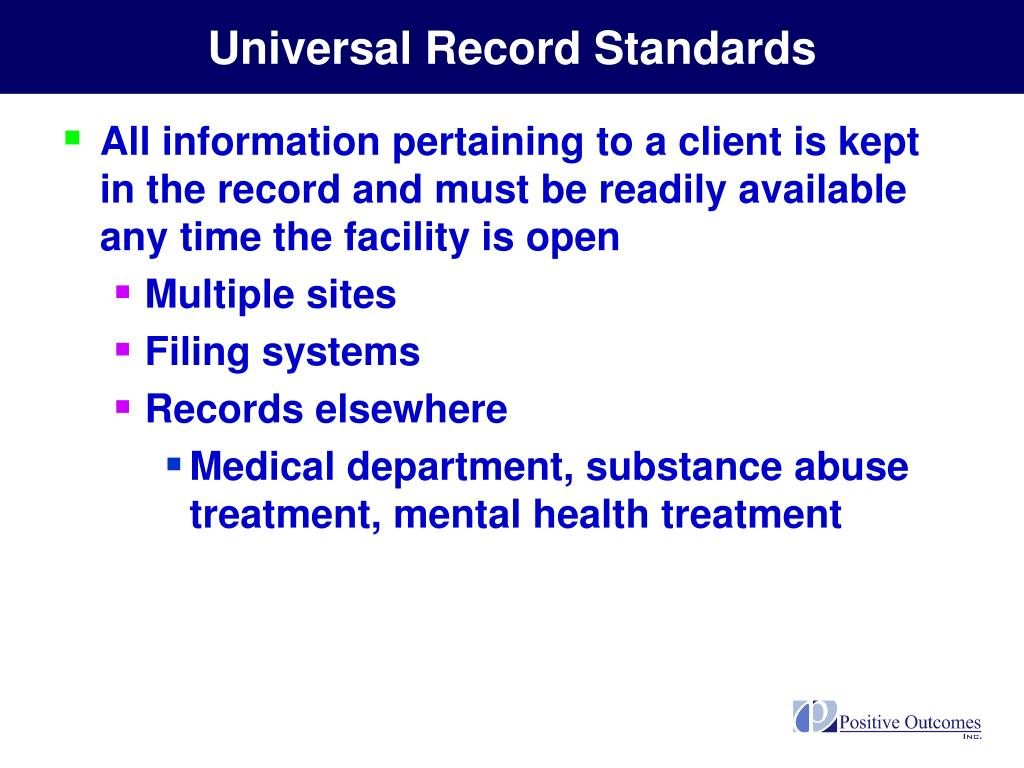 Universal Record Standards