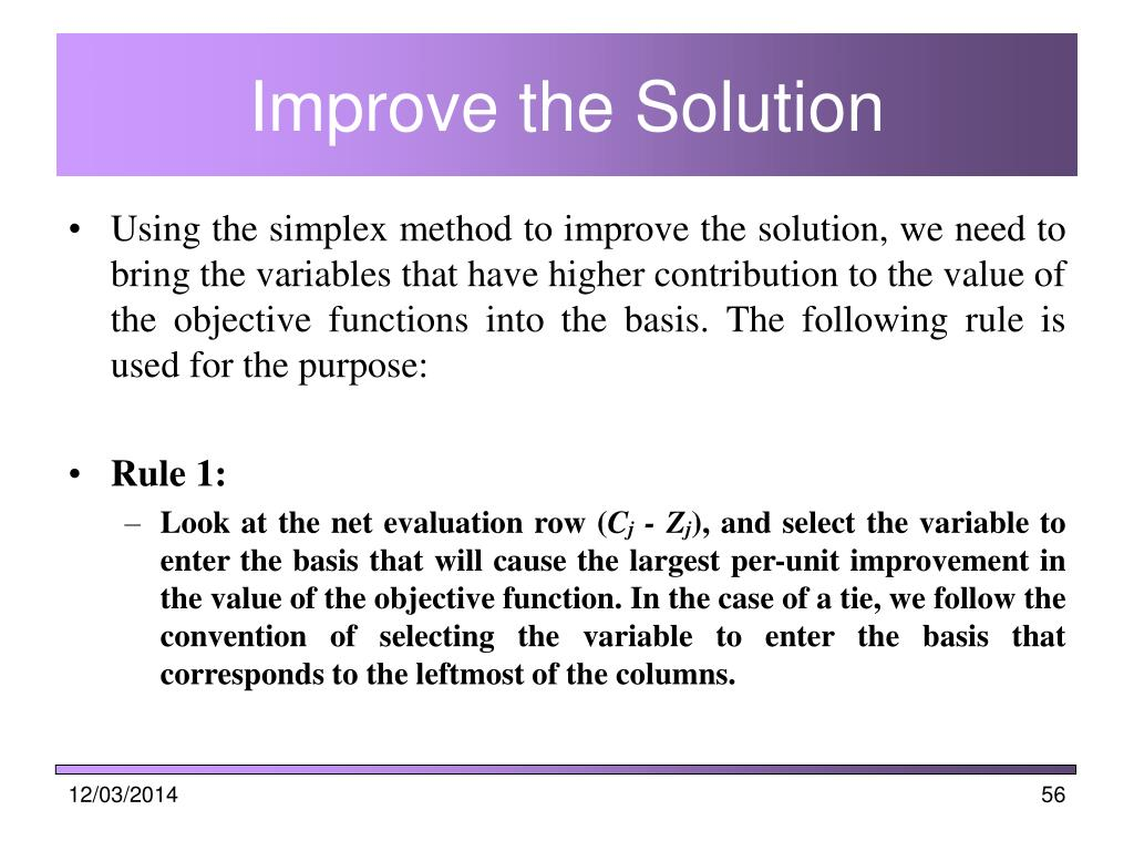 Improve the Solution