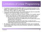 limitations of linear programming