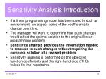 sensitivity analysis introduction