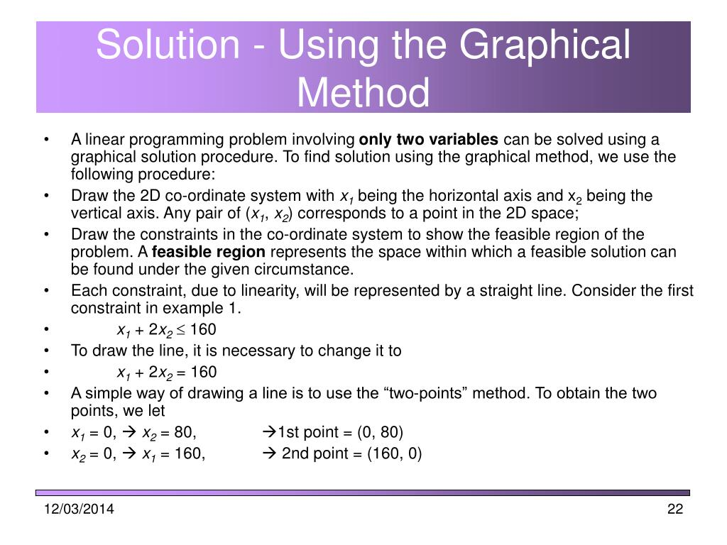 Solution - Using the Graphical Method