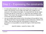 step 2 expressing the constraints