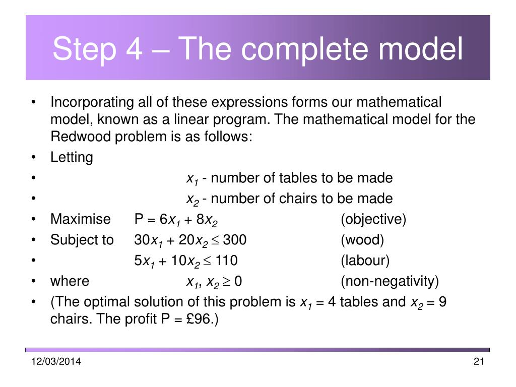 Step 4 – The complete model