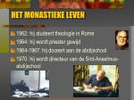 het monastieke leven