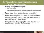 key factors influencing a diagnostic imaging center s market position53