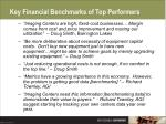 key financial benchmarks of top performers