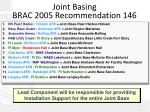 joint basing brac 2005 recommendation 146