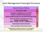 joint management oversight structure