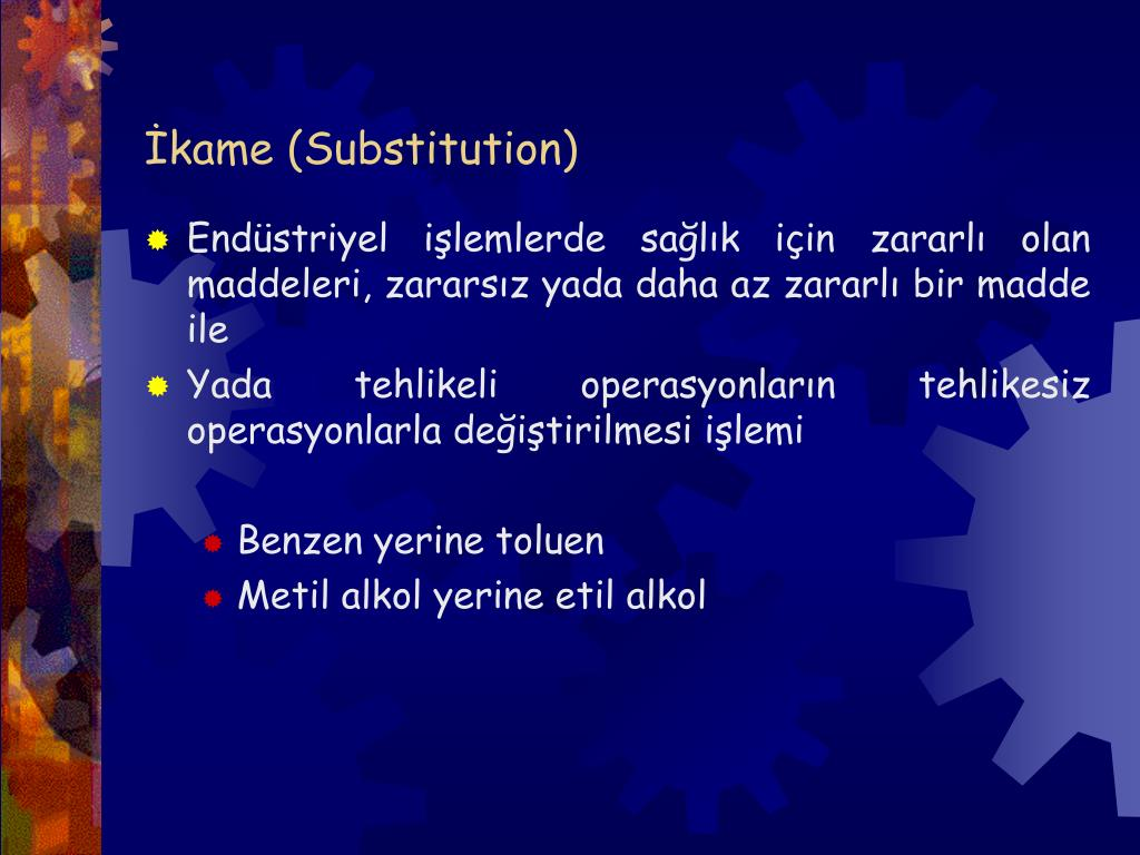 İkame (Substitution)