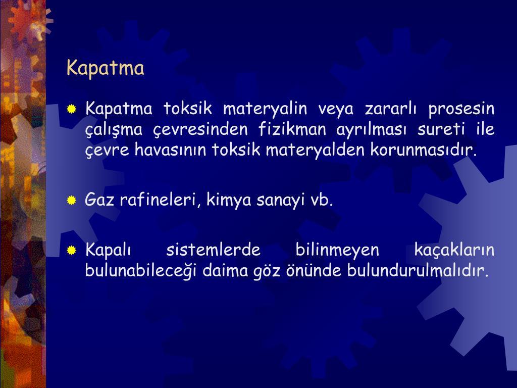 Kapatma