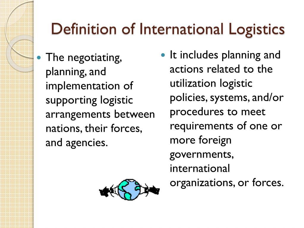 Definition of International Logistics