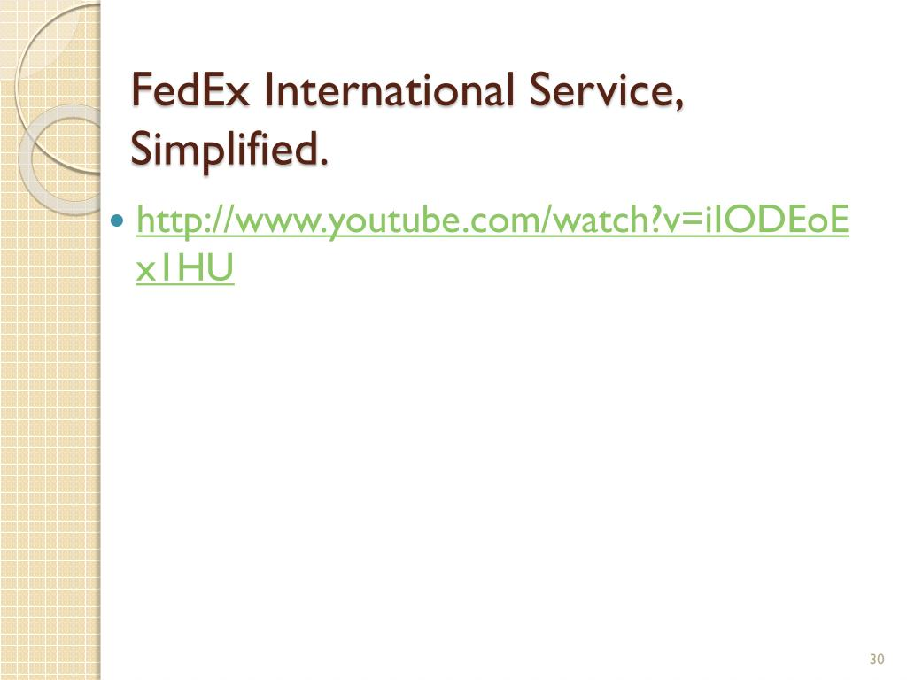 FedEx International Service, Simplified.