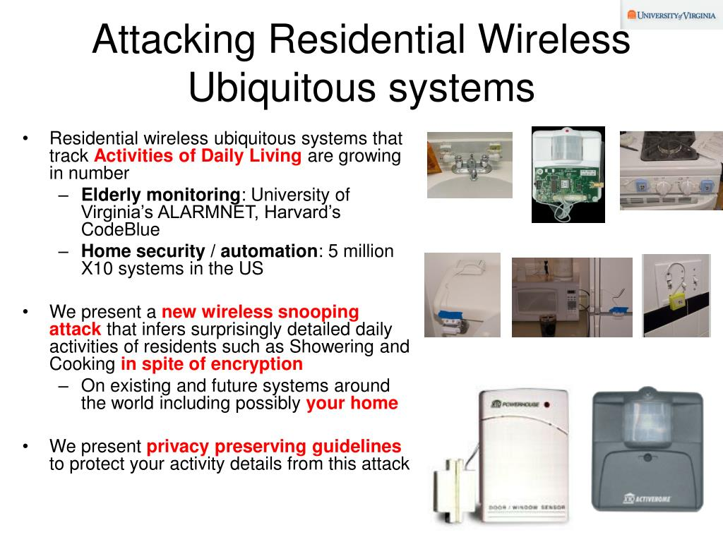 Attacking Residential Wireless Ubiquitous systems