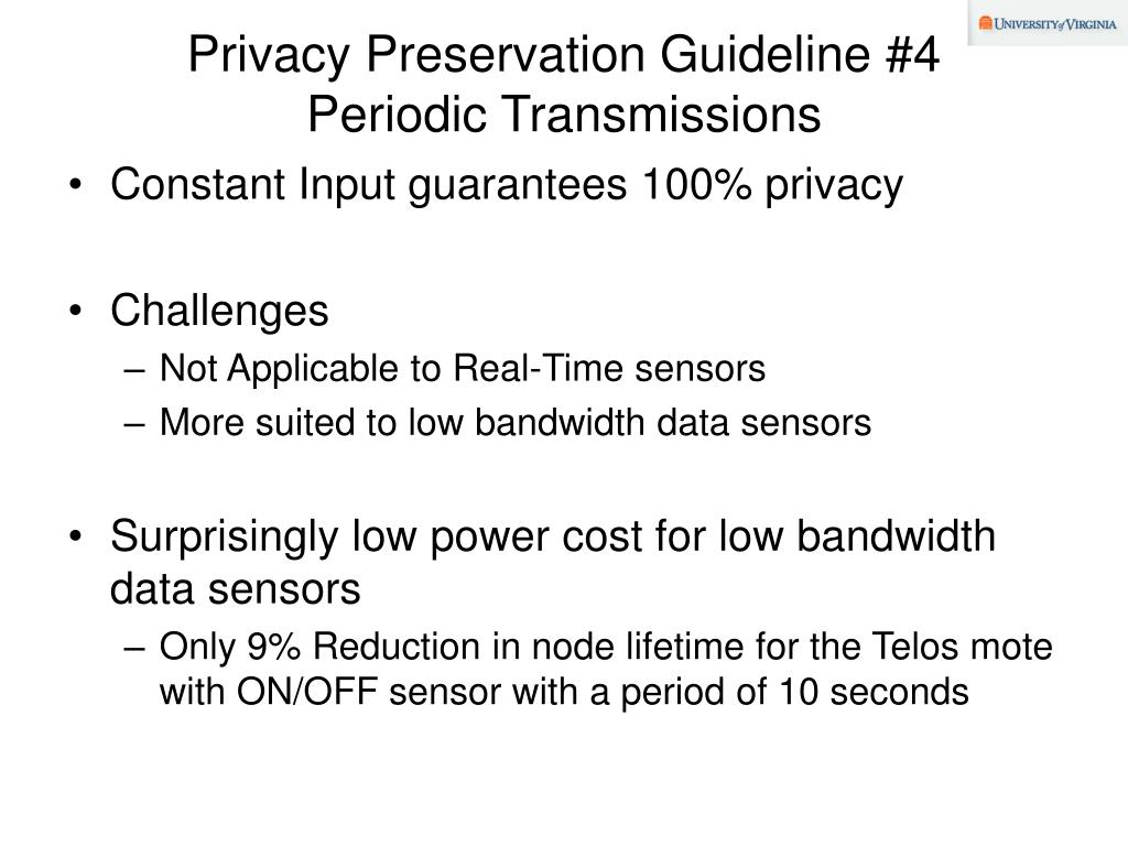 Privacy Preservation Guideline #4