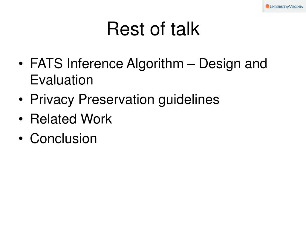 Rest of talk