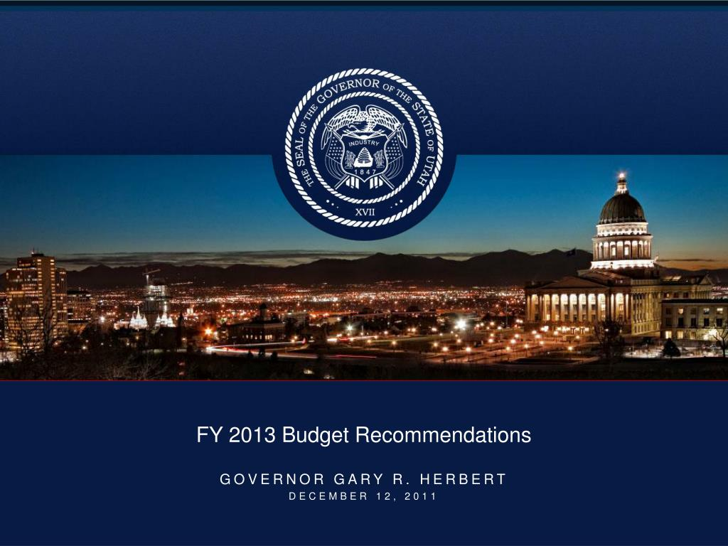 fy 2013 budget recommendations