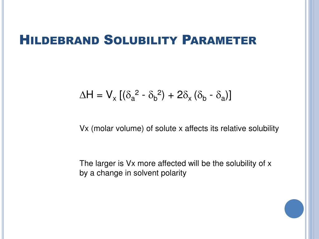 Hildebrand Solubility Parameter