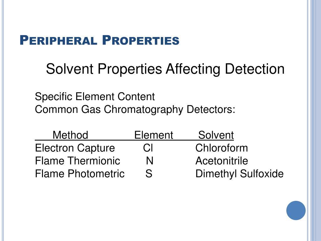Peripheral Properties