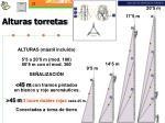 alturas torretas