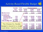 activity based flexible budget