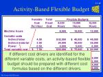 activity based flexible budget48